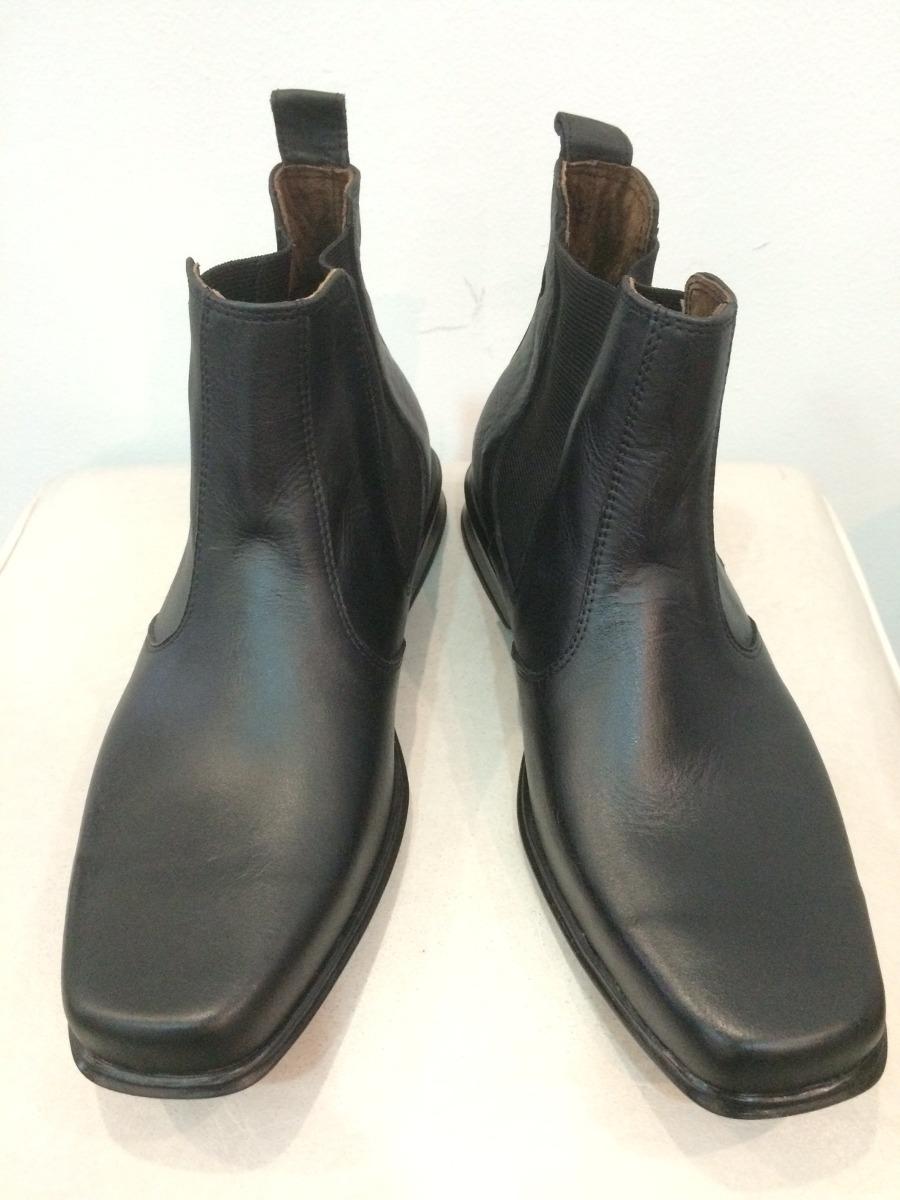 6904fb8afec bota de hombre de cuero con elástico y base de goma febo. Cargando zoom.
