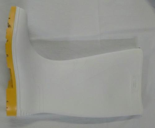 bota de hule blanca talla 9