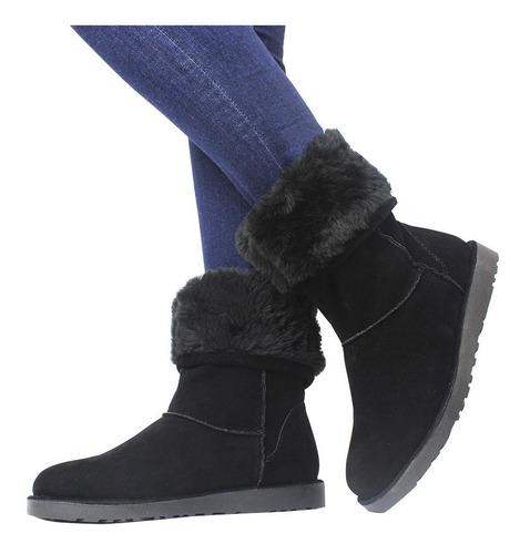 bota de inverno tipo ugg feminina ideal p/ neve toda forrada