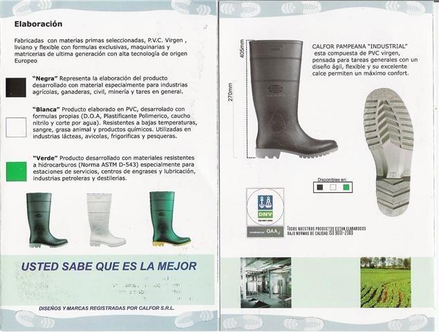 Bota De Lluvia - Calfor Pampeana - Modelo Industrial - Negra -   650 ... 4b2b531c89f96