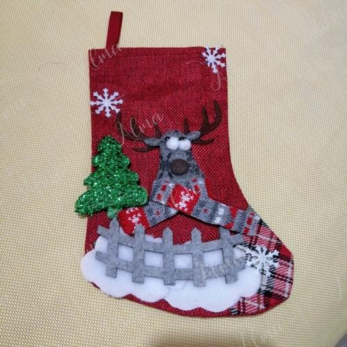 bota de navidad adorno dulcero navideño 23 cm de largo