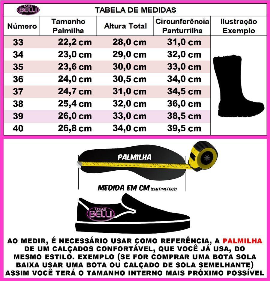 f675277dfa Bota De Pelo Dentro Feminina Neve Top201can Lojas Belli - R  94