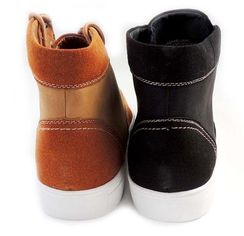 bota de piel zapato botin casual vaqueras militar p/ hombre
