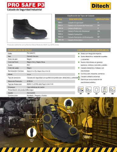 bota de seguridad dieléctricas ditech prosafe p3 negro