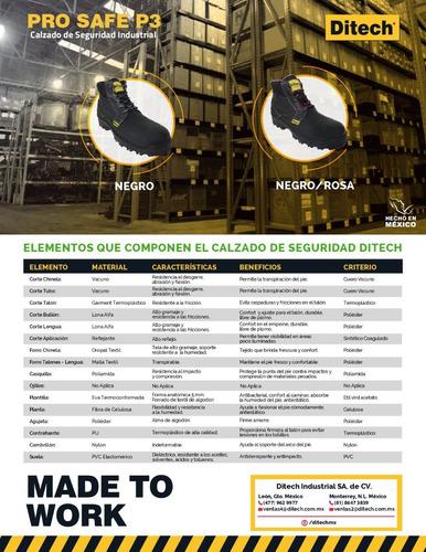 bota de seguridad industrial ditech pro safe p3 dama