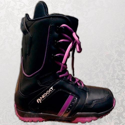 bota de snowboard nieve de cuero reforzada nexxt free terra