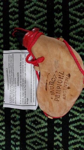 bota de vino muñoz pamplona 1/2 lt original cazadora cuero