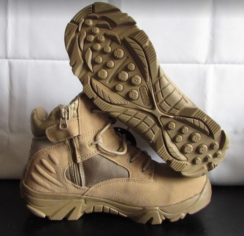 bota delta corta militar color desierto talla 7 usa 25cm