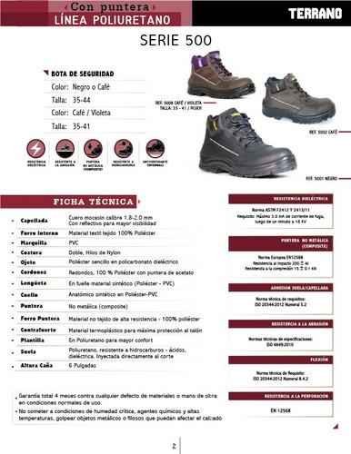 bota dotaciòn ref. 5008  bota dama seguridad trochy