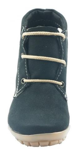 bota economica casual marca vanessa  nobuck negro 628