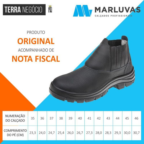 bota epi proteção bico aço butina marluvas safety flex c/ nf