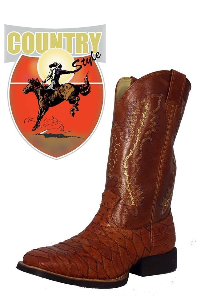 dda523e9504 bota escamada em couro de avestruz whisky - classic. Carregando zoom.