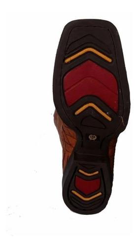 bota escamada em couro de avestruz whisky - classic