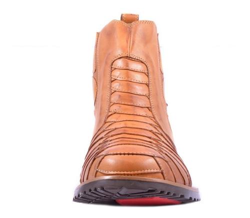 bota escamada masculina country rodeio couro texana barretão