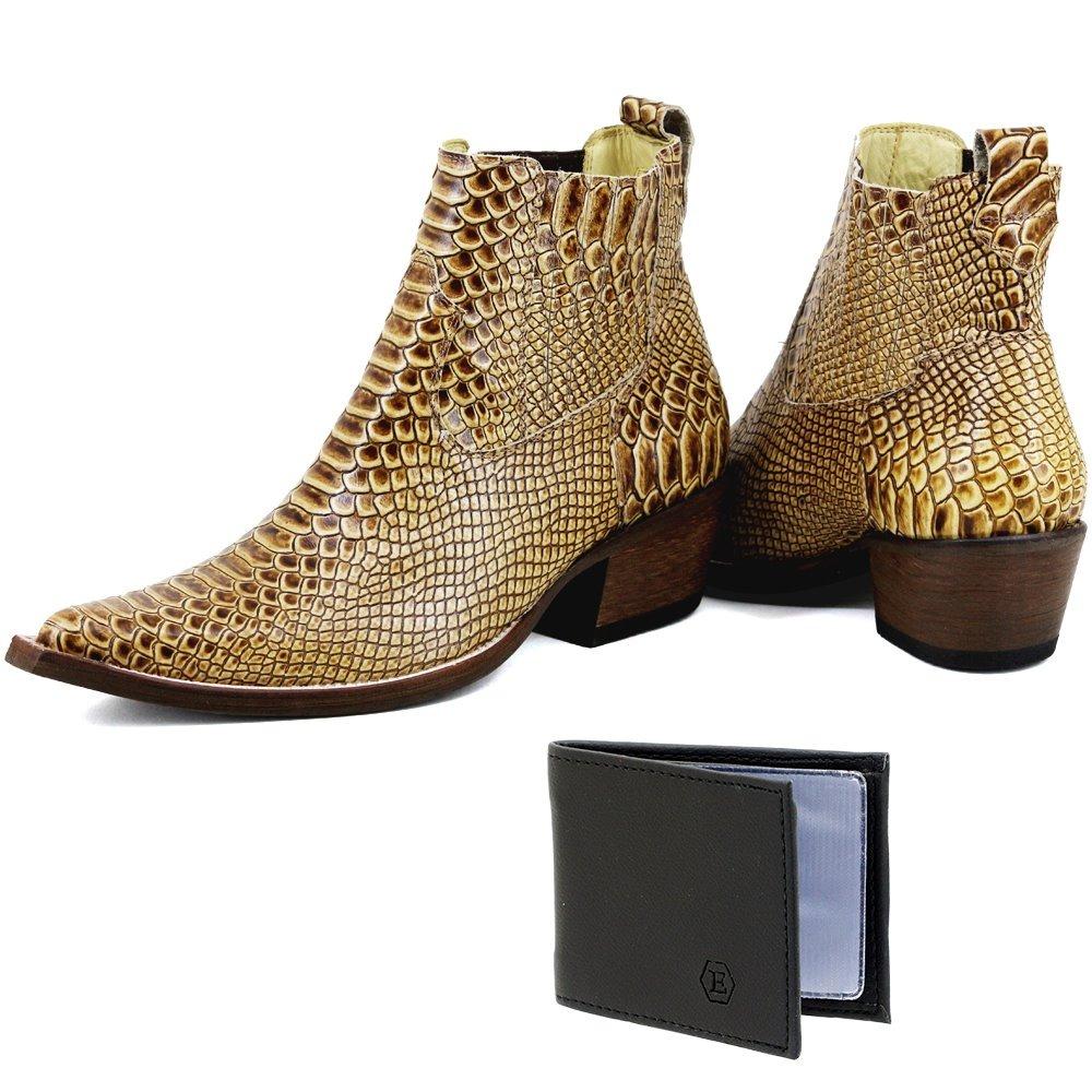 ee6a9d6f9 bota estilo montaria masculina escrete em couro legitimo. Carregando zoom.