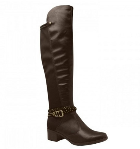 bota femenina invierno caño largo sintetico confort otoño