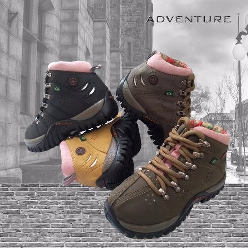 bota feminina * adventure * 25 ao 40 infantil e adulto