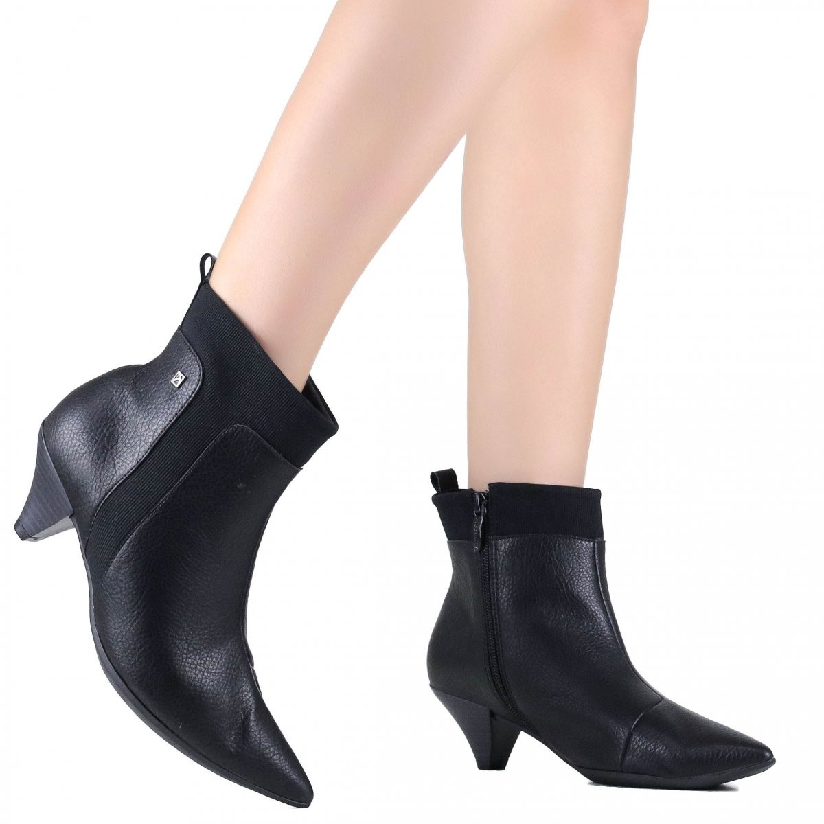 ab56442e40 Bota Feminina Ankle Boot Piccadilly Bico Fino Preto 119015 - R  304 ...