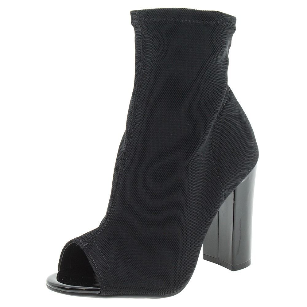 6b36058f9f Bota Feminina Ankle Boot Preto croco Via Marte - 173401 - R  29