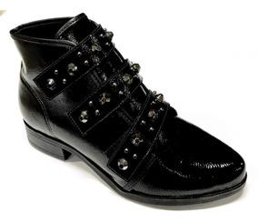cc583c73378ca5 Bota Carrano Preta Com Spikes Botas De Cano Curto Feminino - Sapatos ...