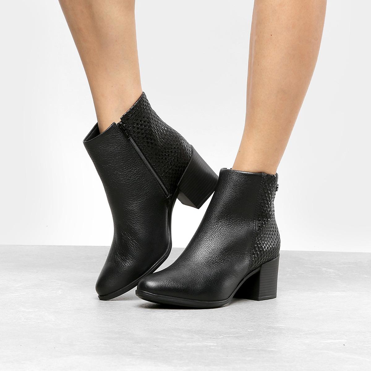 3cc921ab0 bota feminina bonita couro legitimo bottero - preto promoção. Carregando  zoom.