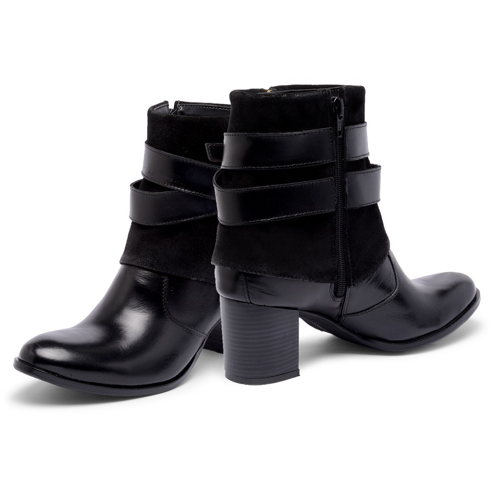 ... bota feminina botinha salto cano baixo ziper couro legitimo. Carregando  zoom. d750101f8154a2 ... 809e157ec0ad5