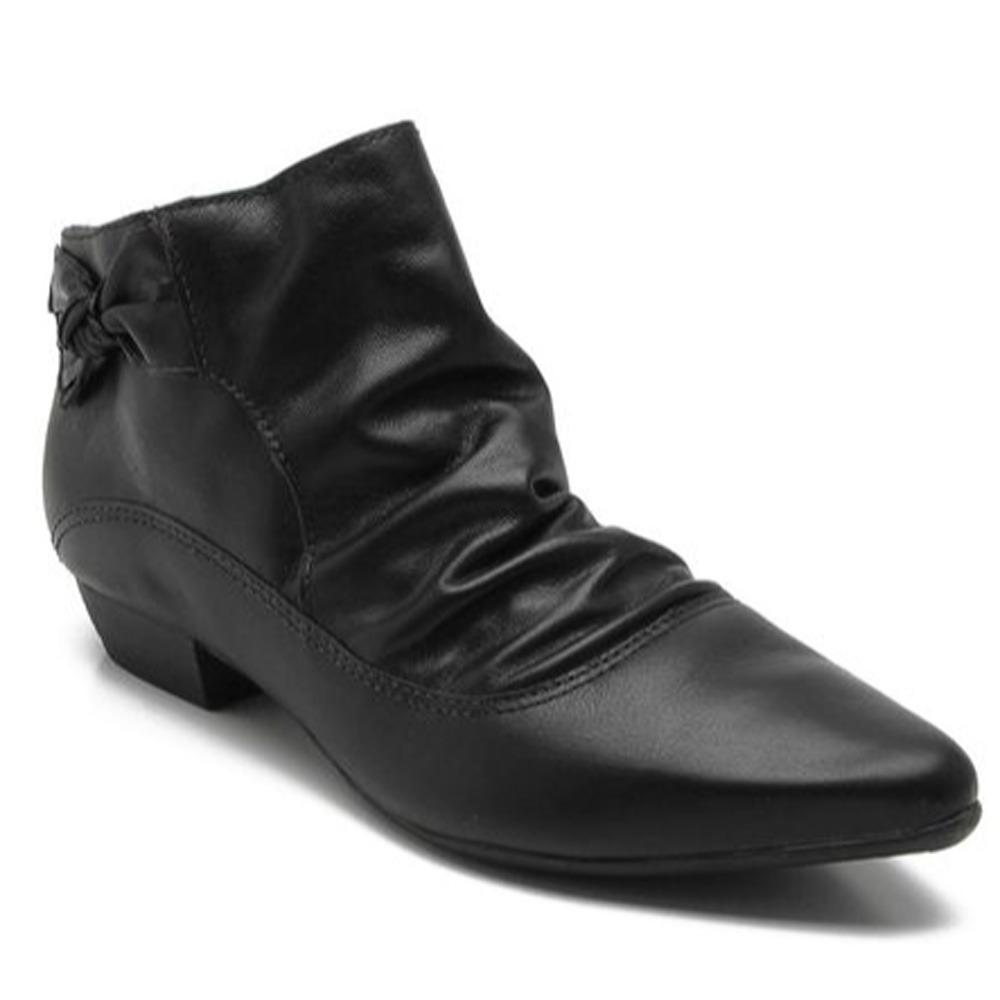 bota feminina bottero 287704 cano curto em couro ankle boots. Carregando  zoom. e39a494ce5