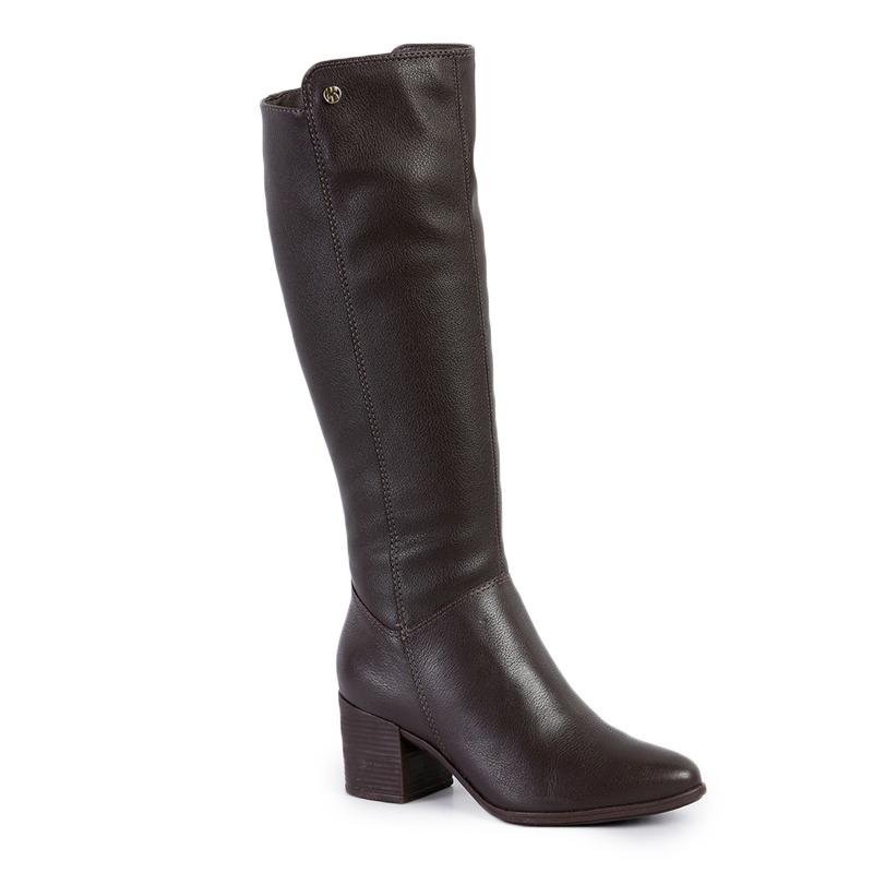 71e15bb4388 bota feminina bottero cano alto couro militar dark brown. Carregando zoom.