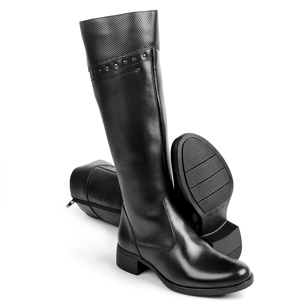 13c6ee306096f4 bota feminina cano alto confortavel montaria de couro 1003. Carregando zoom.