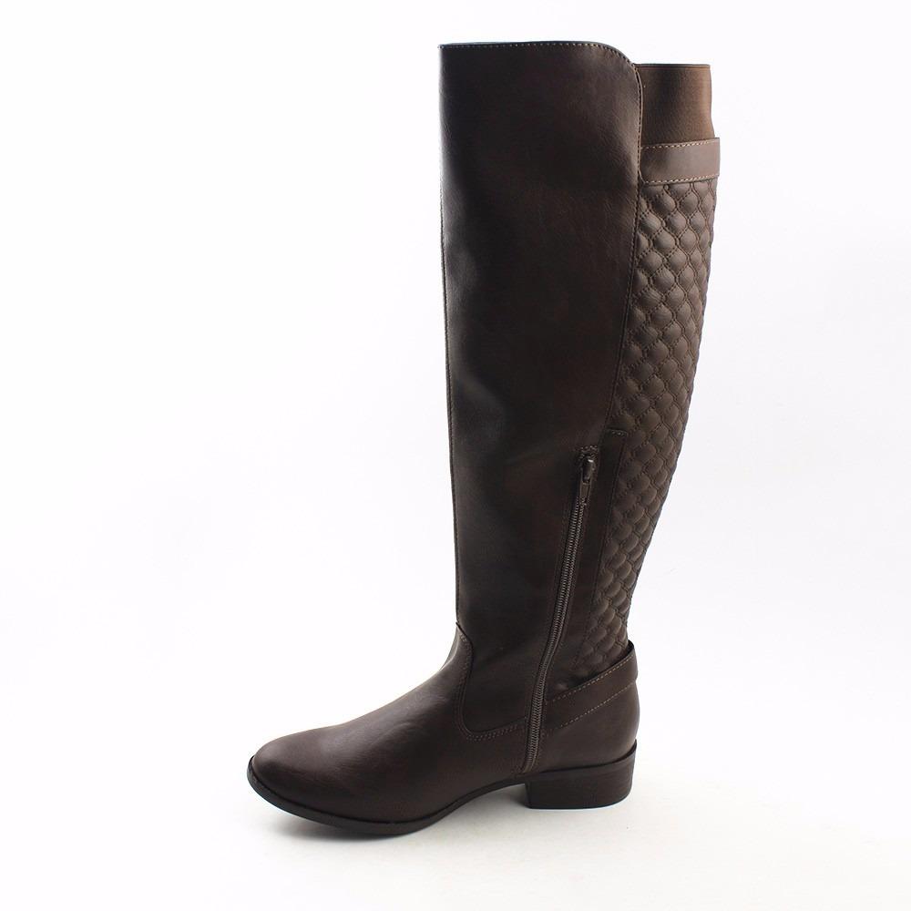 8ec6e2bad bota feminina cano alto longo em couro via marte 2016 583288. Carregando  zoom.