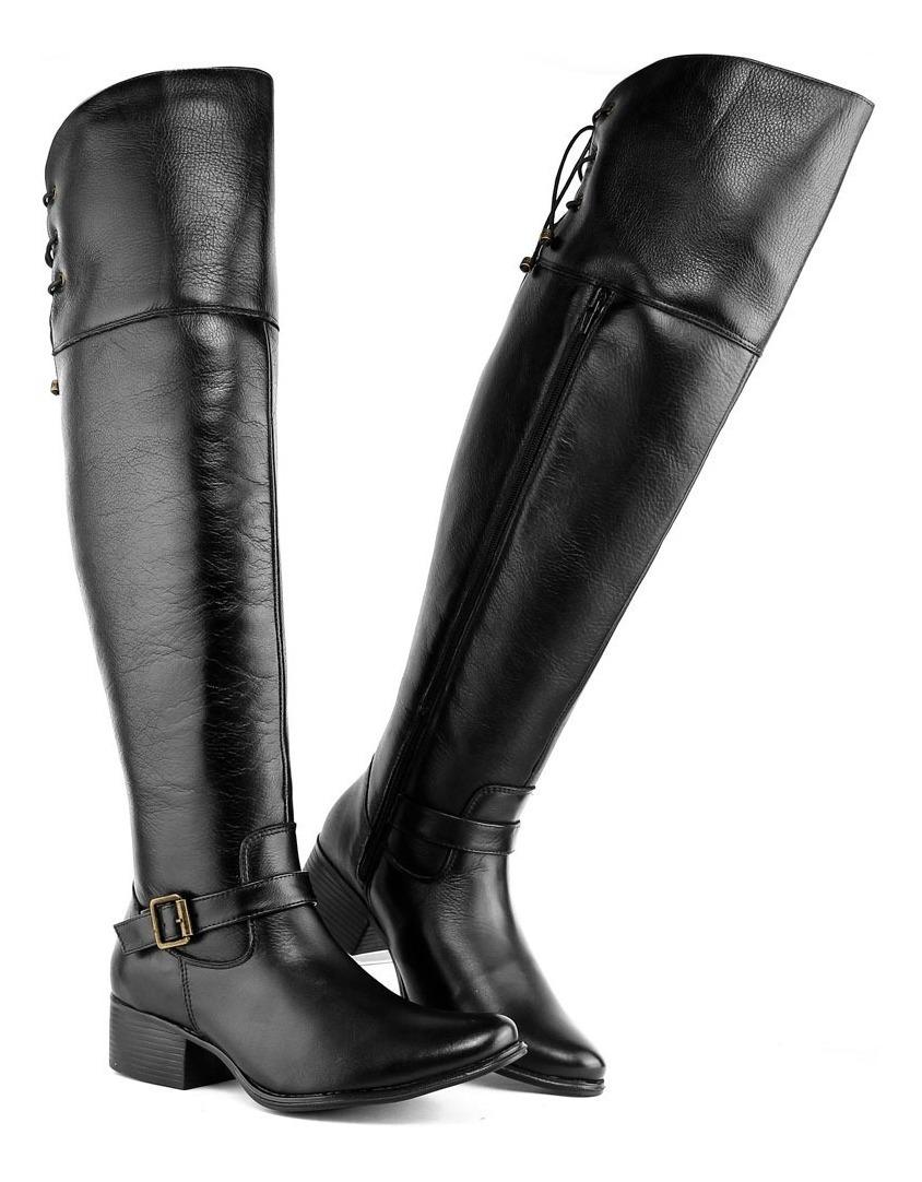 d722eb8578 bota feminina cano alto over knee preta outono inverno. Carregando zoom.