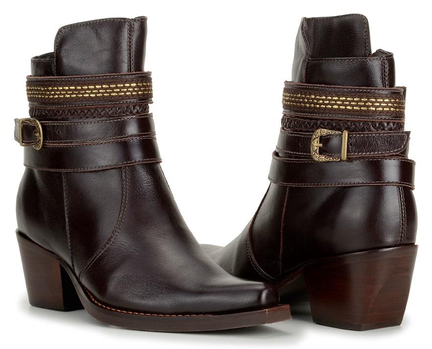fd2ac211d bota feminina cano baixo 100% couro social confort 3 modelos. Carregando  zoom.