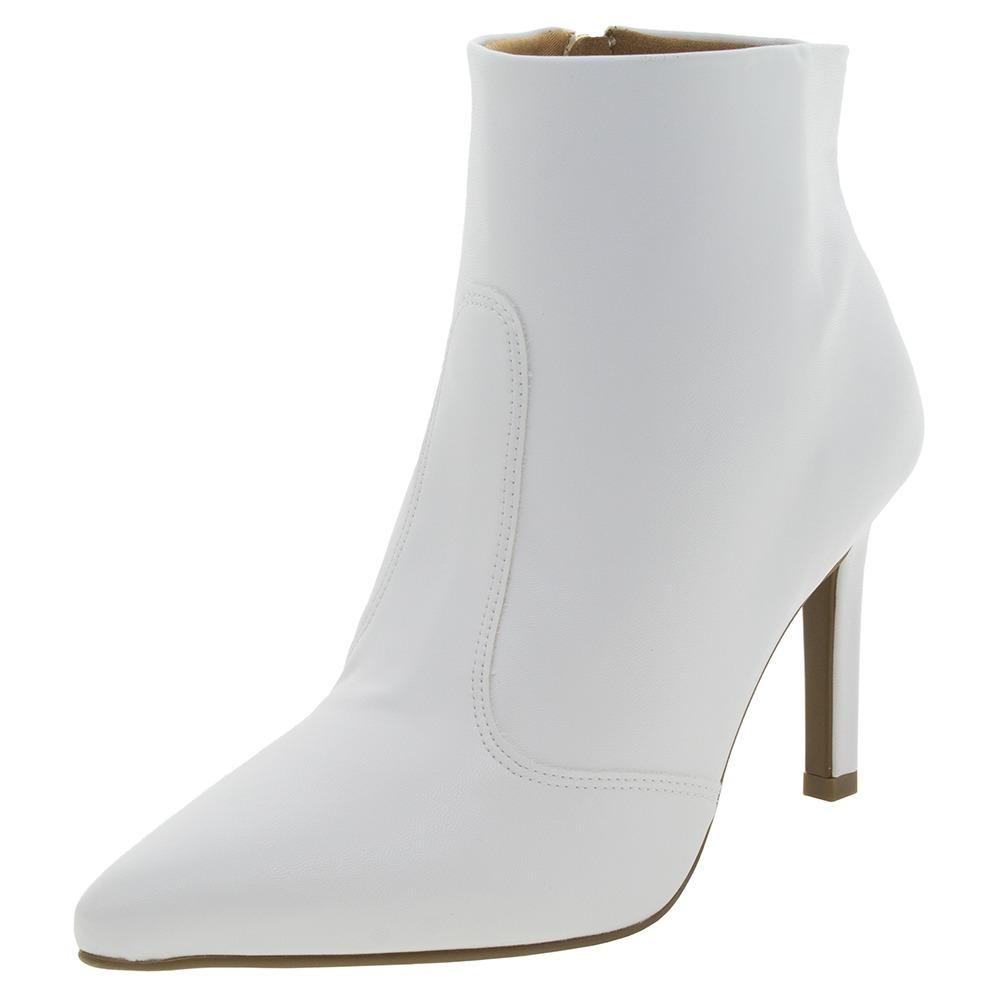 0f81cdfb8 bota feminina cano baixo branca vizzano - 30491163. Carregando zoom.