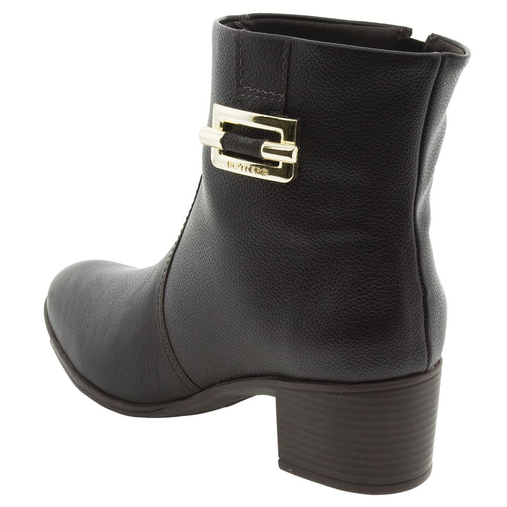 d4af32e6037 bota feminina cano baixo café bottero - 266106. Carregando zoom.