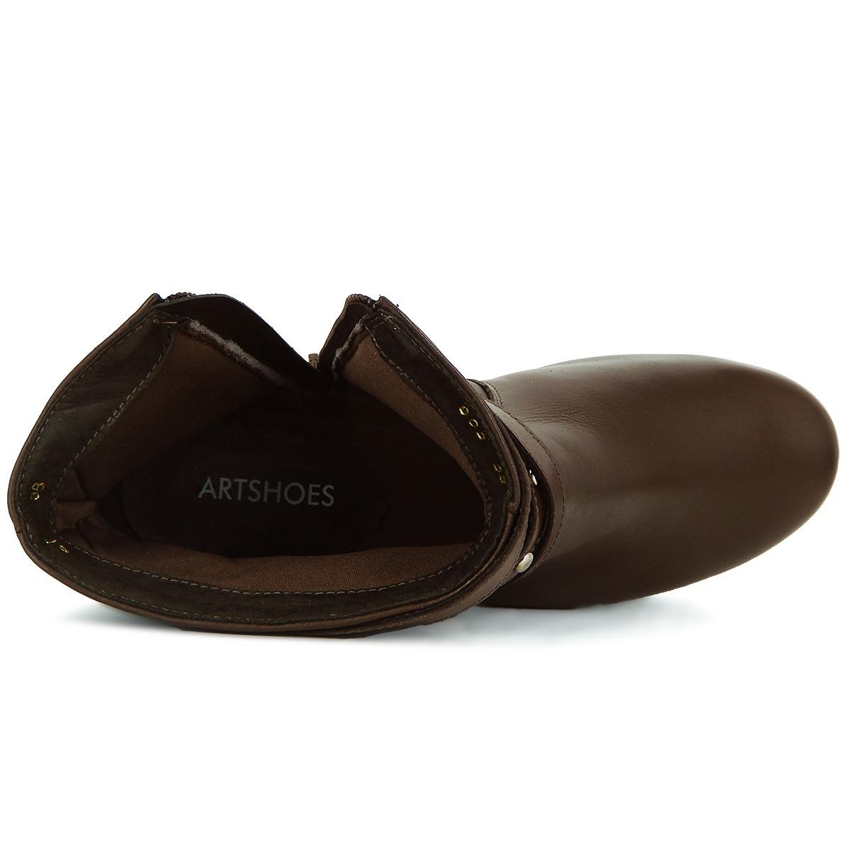 aadf10989 bota feminina cano baixo coleção inverno original em couro. Carregando zoom.