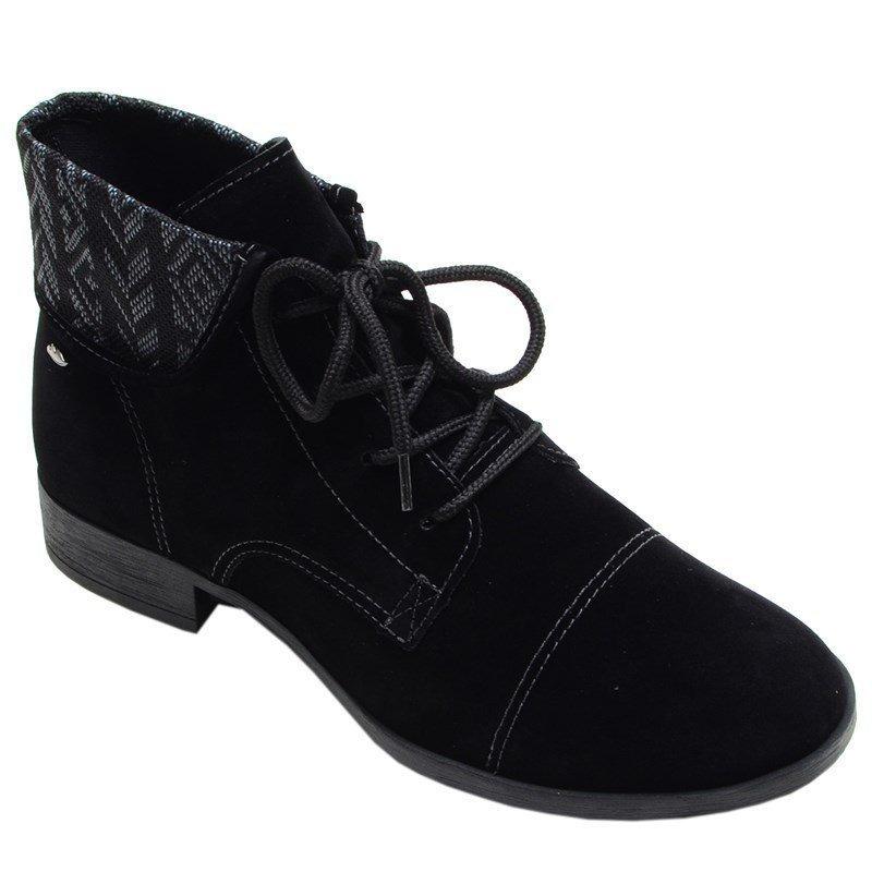 f5efc9ab555ca bota feminina cano baixo wolford dakota preta. Carregando zoom.