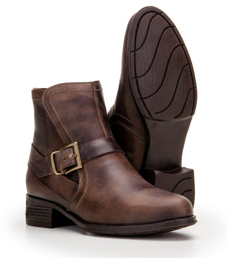 4063f0991 bota feminina cano curto 100% couro alto conforto 4country. Carregando zoom.