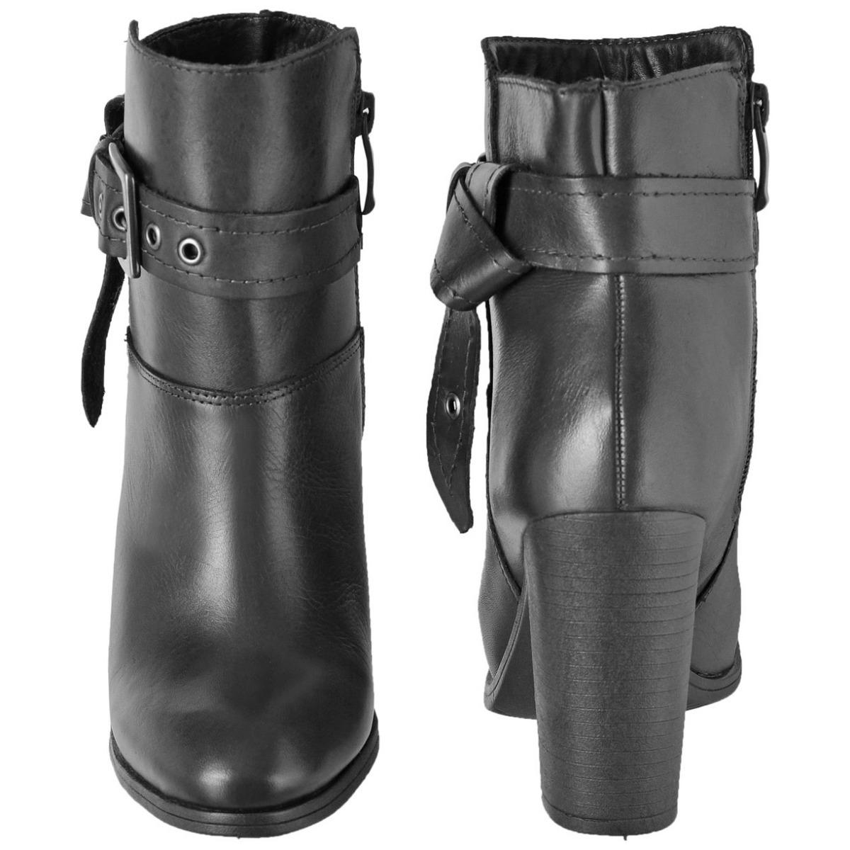 a4de111691 bota feminina cano curto couro legítimo fivela lateral c72cb. Carregando  zoom.