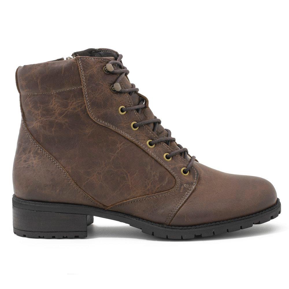 5934934d91 bota feminina cano curto em couro fóssil masson marrom ca... Carregando zoom .