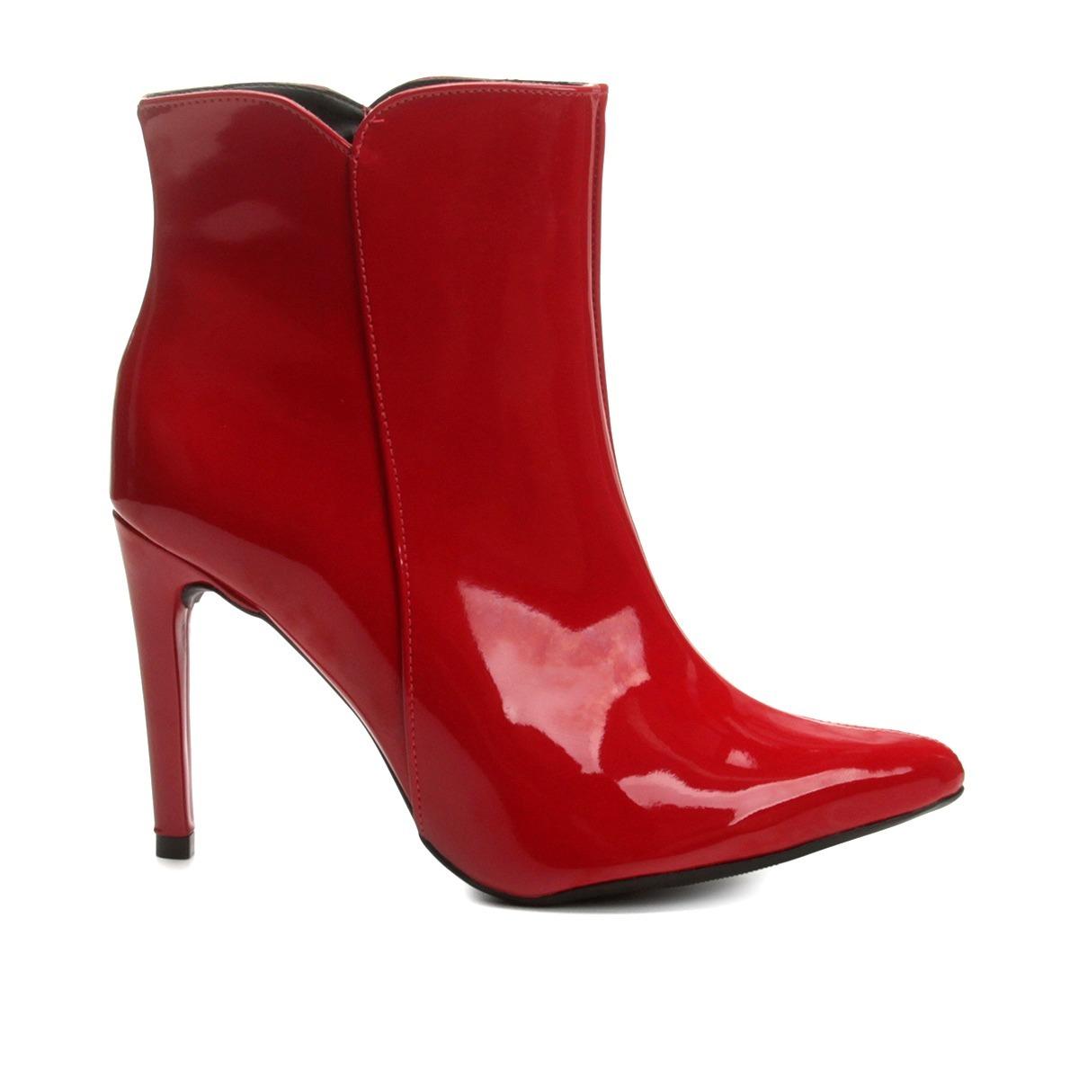 5457560a5 bota feminina cano curto mixage salto fino verniz 3578939. Carregando zoom.
