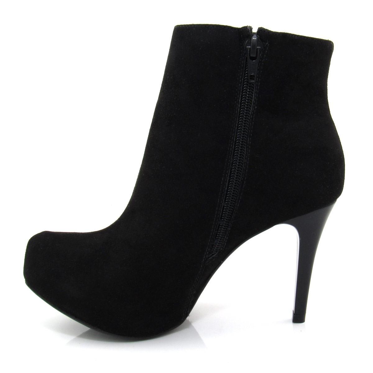 f39d4216c bota feminina cano curto of shoes 1536658 salto fino. Carregando zoom.