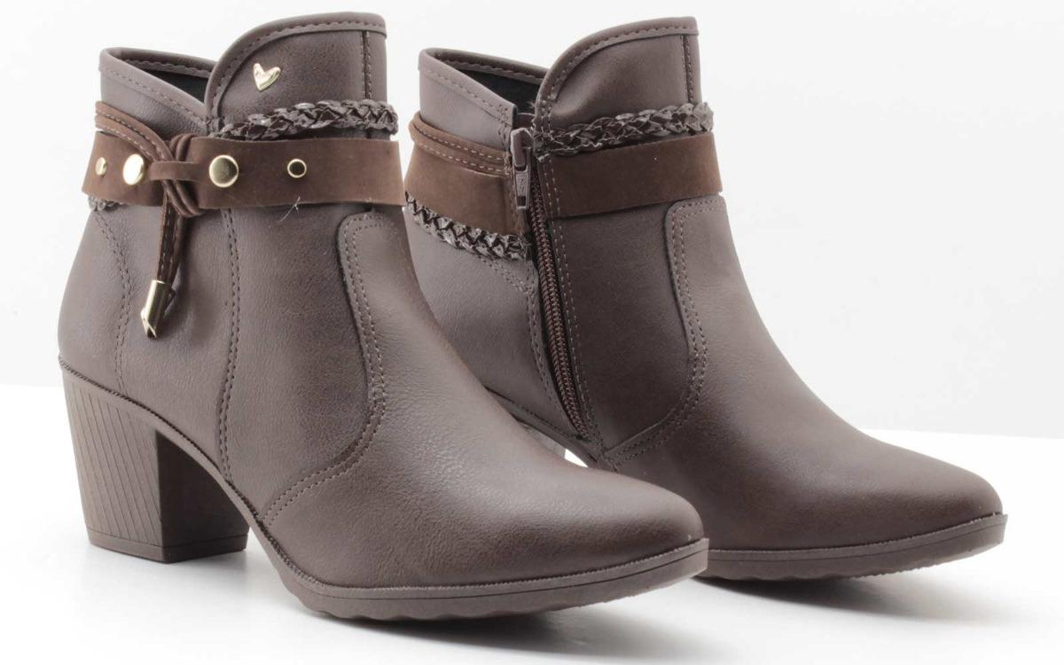 4e0a26851a bota feminina cano curto salto med café mississipi x7676. Carregando zoom.