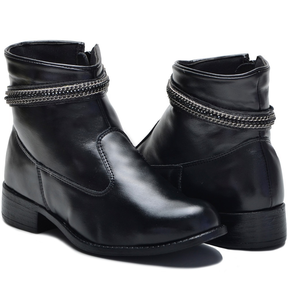 6a8189319 bota feminina cano curto zíper lateral fivela com detalhe. Carregando zoom.