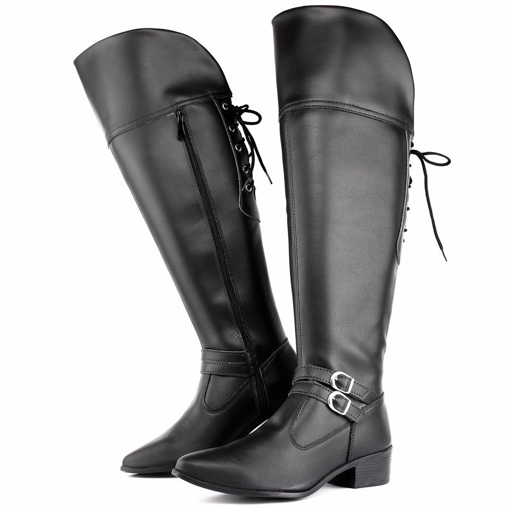 061472c5ce bota feminina cano longo cadarço over the knee frio inverno. Carregando zoom .