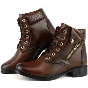 39fa30905 Bota Coturno Feminino Com Ziper - Sapatos no Mercado Livre Brasil