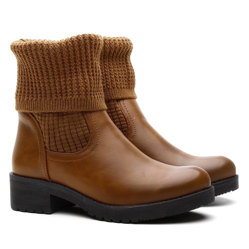 7b549ae186 bota feminina cano médio tecido confortável ajustável leve. Carregando zoom.