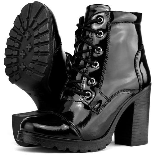 bota feminina cano médio tratorada promoção black friday
