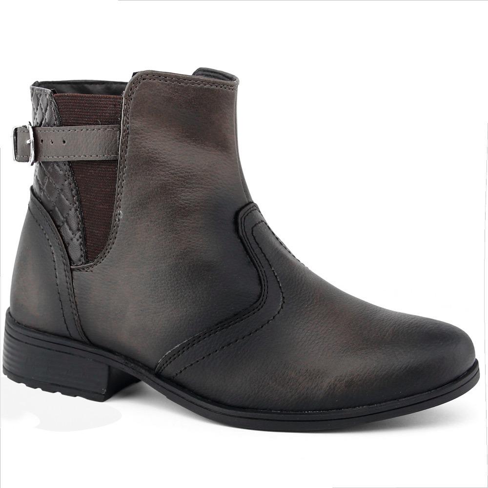 58658951d bota feminina casual cano baixo spike zíper + carteira. Carregando zoom.