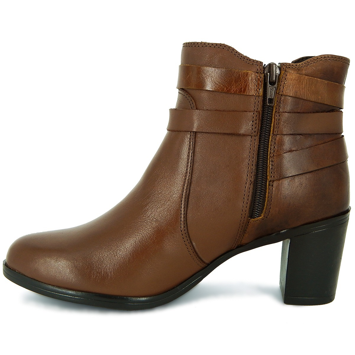 ae6c059b0 bota feminina casual cano curto em couro legítimo dacal on.. Carregando zoom .