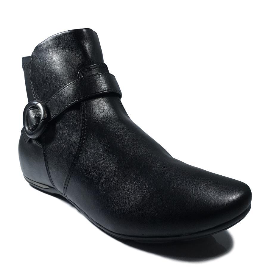 4722c7fdc bota feminina comfortflex preta 1891301 rasteira cano curto. Carregando zoom .